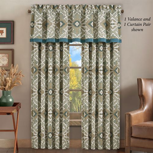 Phoenix Medallion Wide Curtain Pair Multi Warm 100 x 84