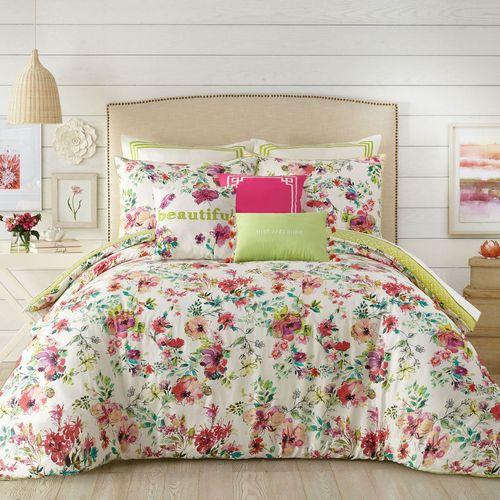 Watercolor Garden Mini Comforter Set Multi Bright