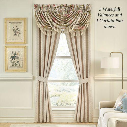 Carlotta Tailored Curtain Pair Light Almond