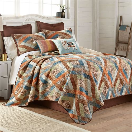 Sienna Patchwork Quilt Multi Warm