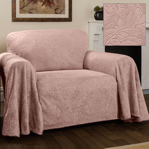 Elegant Damask Furniture Cover Blush Chair