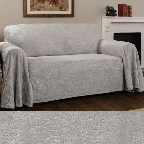 Elegant Damask Furniture Cover Gray Chair
