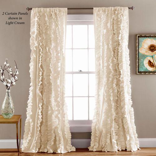 Vannes Ruffled Curtain Panel 54 x 84