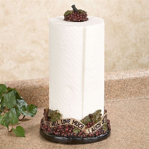Live Love Laugh Grapes Paper Towel Holder