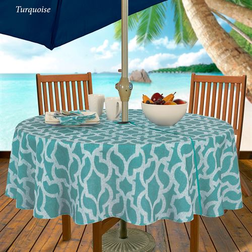 Augustine Zippered Round Tablecloth 70 Diameter