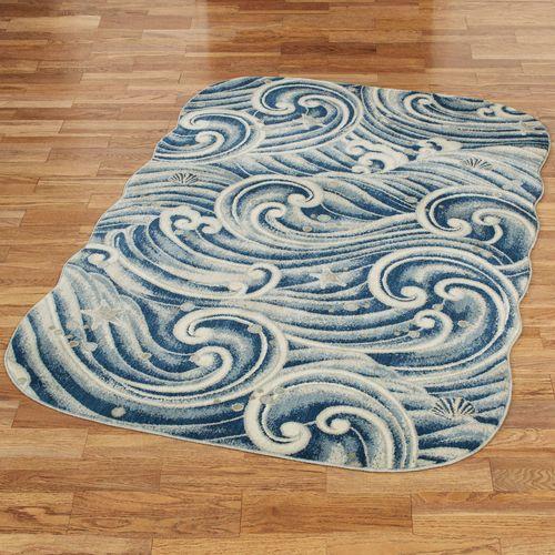 Rip Tide Rectangle Rug Blue