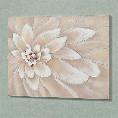Bursting Bloom Canvas Wall Art Off White