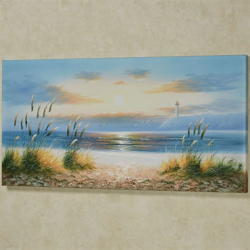 Coastal Retreat Canvas Wall Art Multi Cool