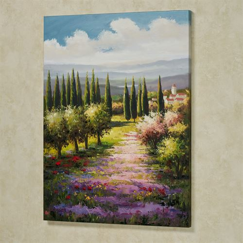 View of Tuscany Canvas Wall Art Multi Warm