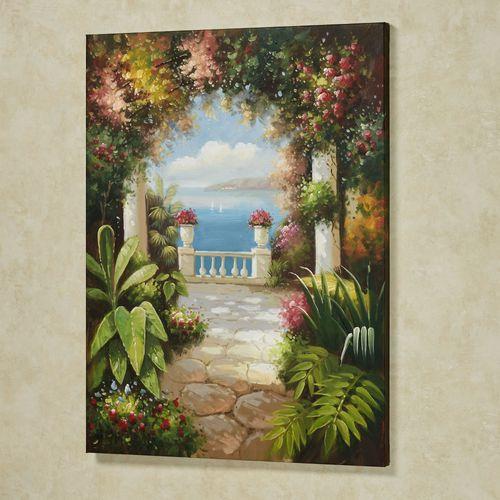 Tropical Hideaway Canvas Wall Art Multi Warm