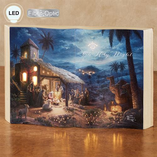The Nativity Lighted Book Decoration Multi Warm