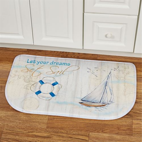 Set Sail Cushioned Slice Mat Eggshell 30 x 18