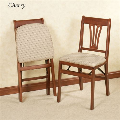 French Country Folding Chairs Set of Two