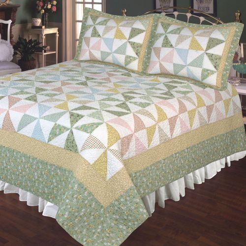Pastel Pinwheel Patchwork Quilt Multi Pastel