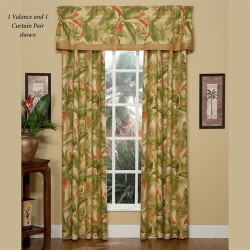 La Selva II Wide Tailored Curtain Pair Light Gold 100 x 84