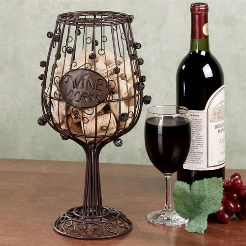 Wine Glass Cork Cage(R) Brown
