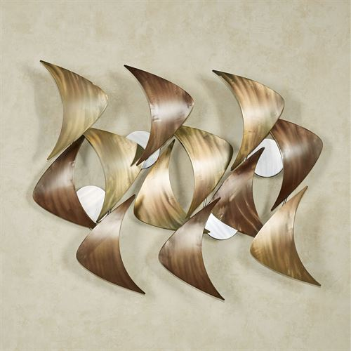 Cadence Wall Sculpture Multi Metallic