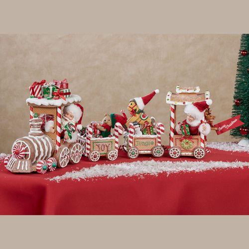 Gingerbread Train Clothtique Brown 2 Piece Set