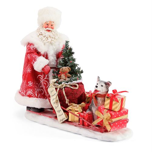 Snow Buddies Clothtique Santa Figurine Red