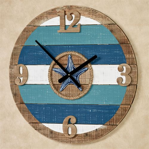 La Mer Wall Clock Blue