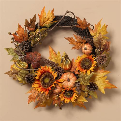 Autumn Medley Wreath Multi Warm