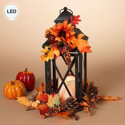 Country Fields LED Lantern Black