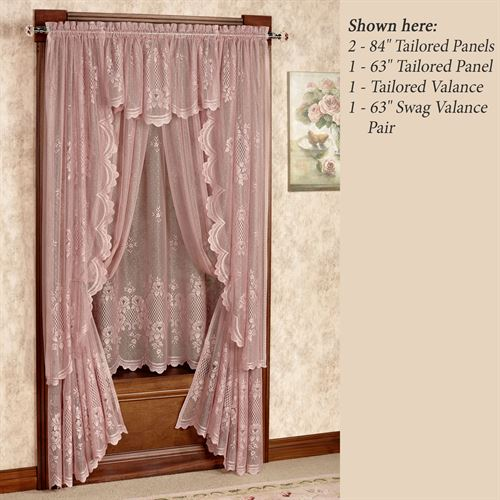 Cameo Rose Tailored Curtain Panel Victorian Rose