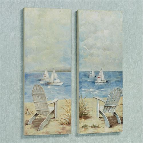 Setting Sail Wall Art Plaques Multi Cool Set of Two
