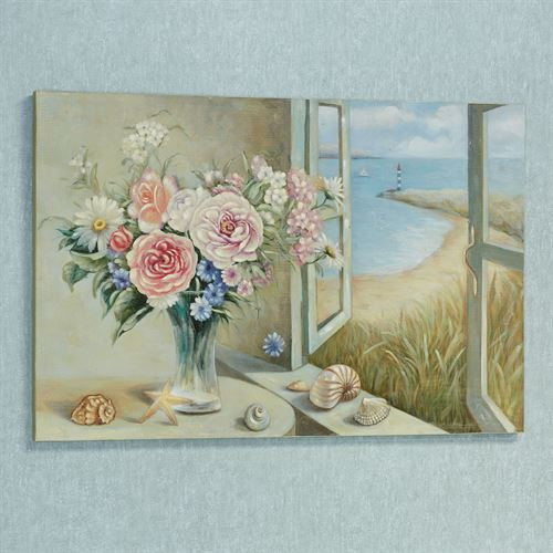 Summer Breeze Canvas Wall Art Multi Pastel