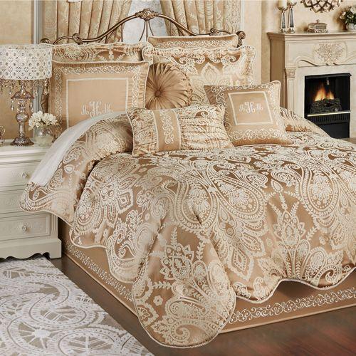 Monarch Comforter Set Gold/Bronze