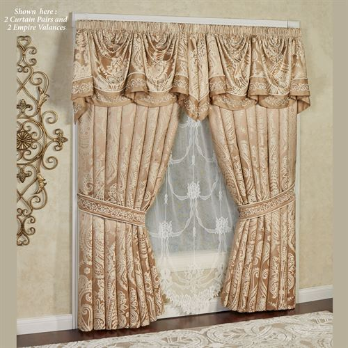 Monarch Empire Valance Gold/Bronze 110 x 28