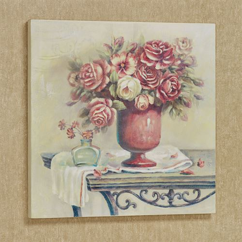 Romantic Bouquet Floral Wall Art Plaque Multi Warm