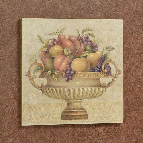 Fruitful Harvest Wall Art Plaque Multi Warm