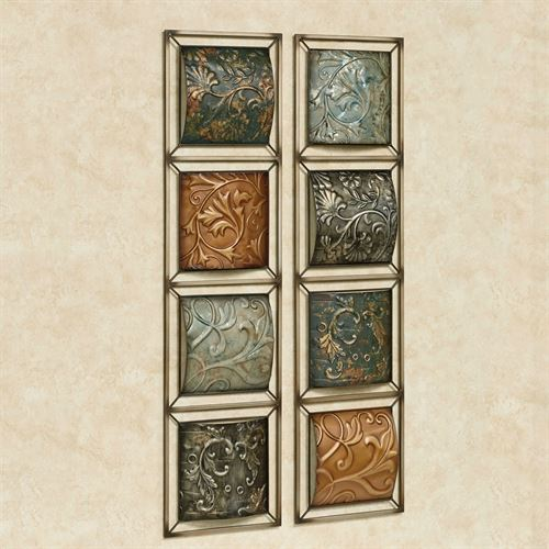 Sahlford Wall Art Panels Multi Earth Set of Two
