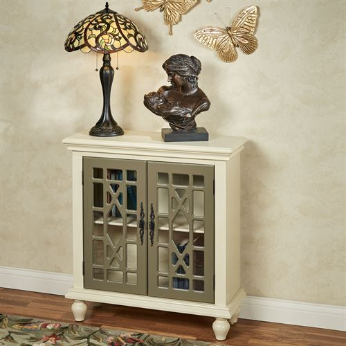 Napier Two Door Accent Cabinet Light Cream