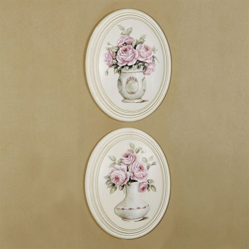Lillian Rose Wall Plaques Multi Pastel Set of Two