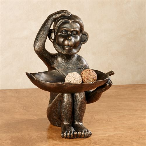 Innocent Chimp Table Sculpture Bronze