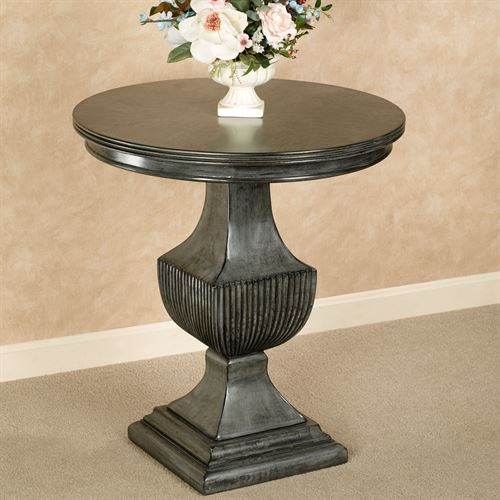 Ramona Round Accent Table Gray