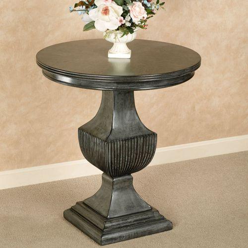 Ramona Round Accent Table Gray
