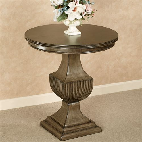 Ramona Round Accent Table Taupe