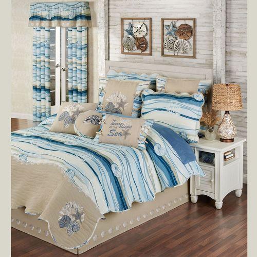 Coastal View Quilt Set Blue