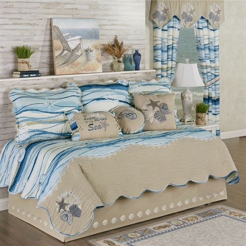 Coastal View Daybed Set Blue Daybed