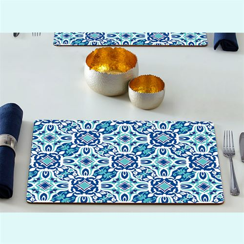 Andros Hardboard Placemats Blue Set of Four