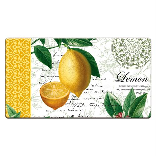 Citron Lemon Cushioned Floor Mat Yellow 30 x 20