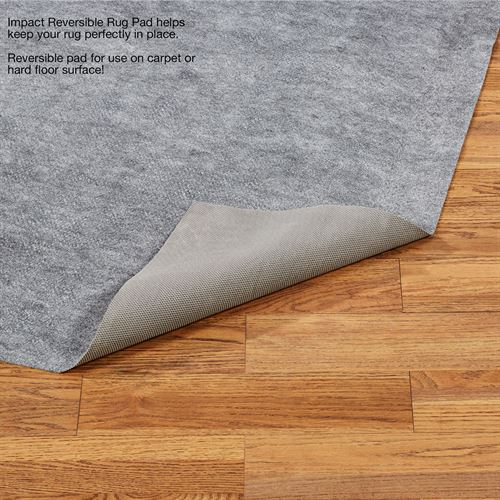 Impact Reversible Rectangle Rug Pad Gray