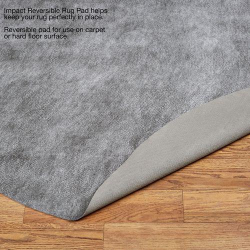 Impact Reversible Round Rug Pad Gray