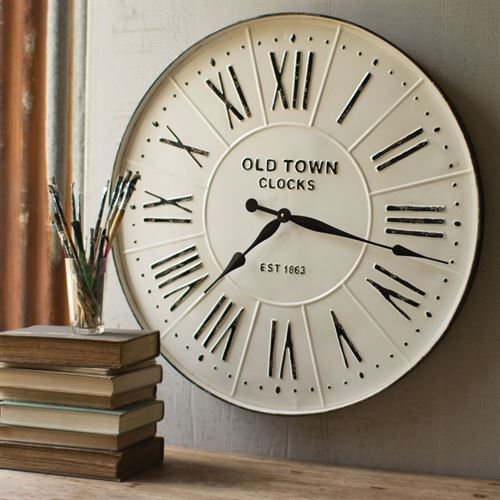 Enameled Wall Clock White