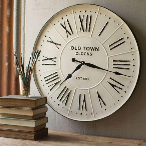 Enameled Wall Clock White