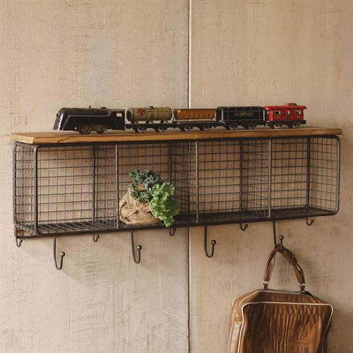 Bon Mesh Rectangle Storage Wall Accent Black