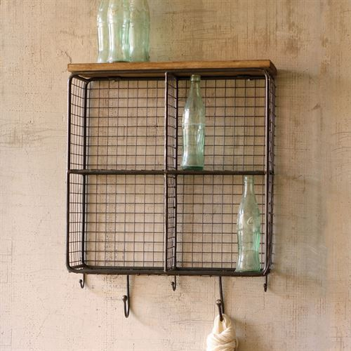 Mesh Square Storage Wall Accent Black